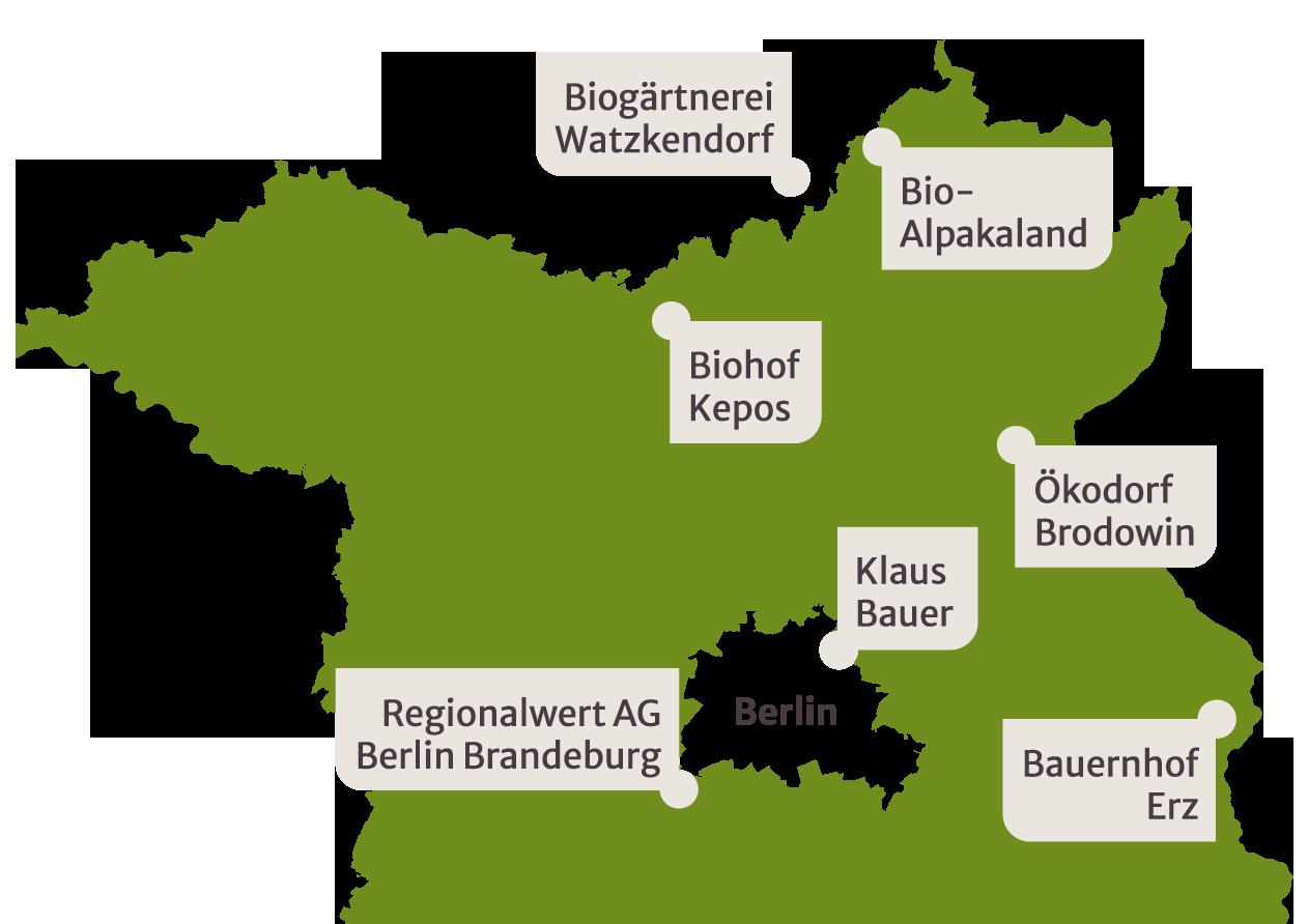 Standorte der Gesellschafter:innen der FBB